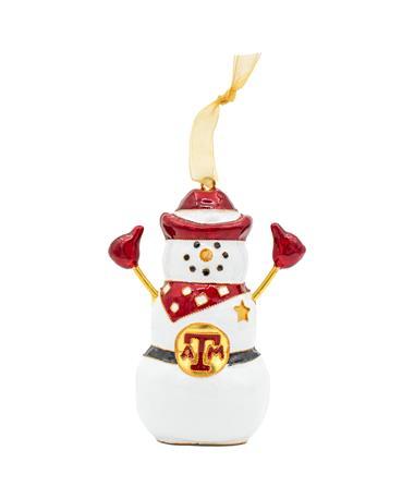 Texas A&M Kitty Keller Snowman Ornament