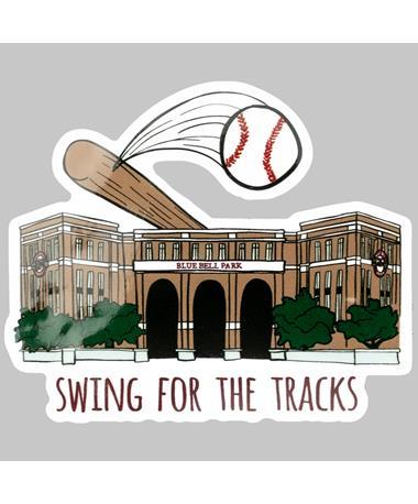 Blue Bell Park Swing For The Tracks Dizzler Sticker