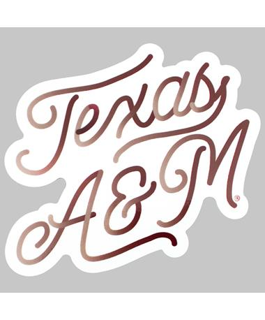 Texas A&M Cursive Dizzler Sticker
