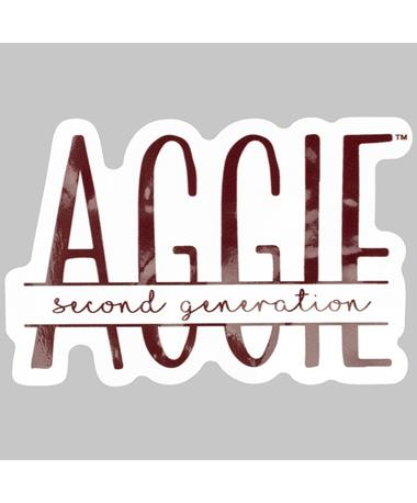 Maroon Second Generation Aggie Dizzler Sticker