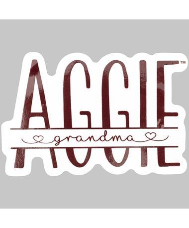 Maroon Aggie Grandma Hearts Dizzler Sticker