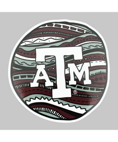 Texas A&M Circle Pattern Dizzler Sticker