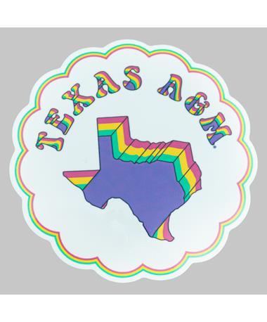 Texas A&M Neon Cloud Dizzler Sticker