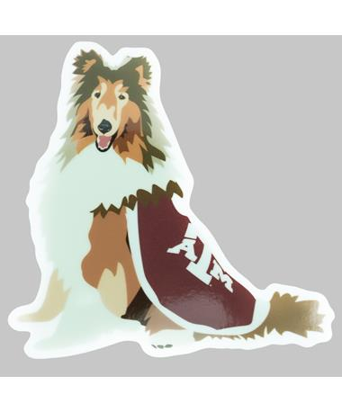 Texas A&M Hand Drawn Reveille Dizzler Sticker