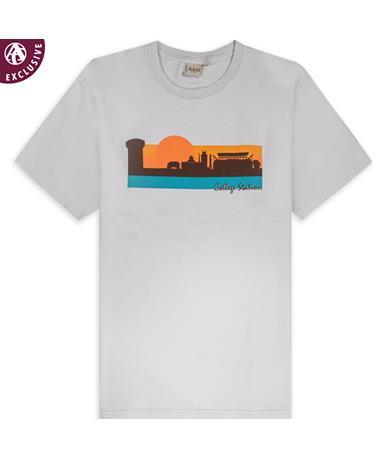College Station Skyline Sunset T-Shirt