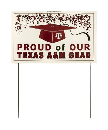 Proud of our Texas A&M Graduate Yard Sign