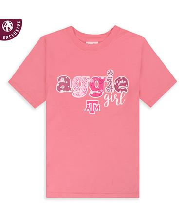 Texas A&M Floral Aggie Girl Youth T-Shirt