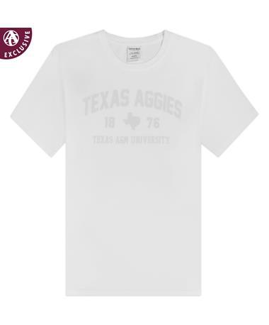Texas A&M Aggies Tonal White T-Shirt