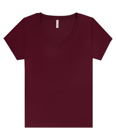 Maroon V Neck 1/2 Sleeve Blouse