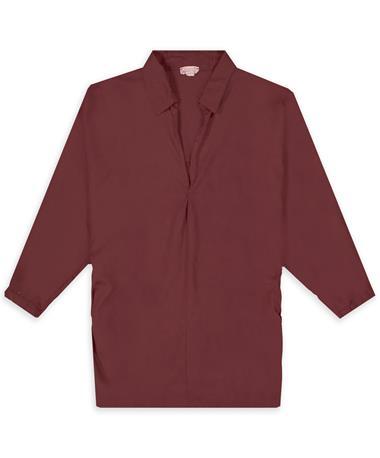 Oversize Maroon Button Back Shirt