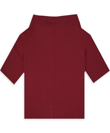 Maroon Wide Neck Blouse