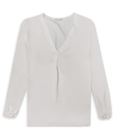 Cream Puff Sleeve Blouse