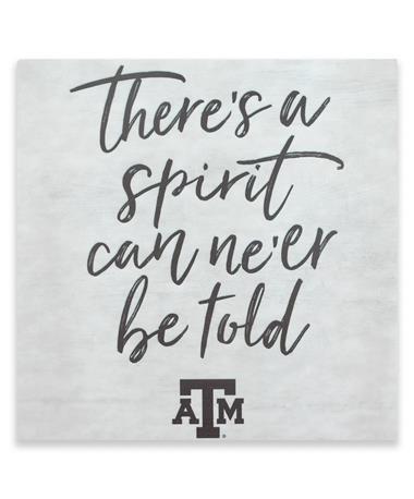 Texas A&M Spirit Can Ne'er Be Told Decor