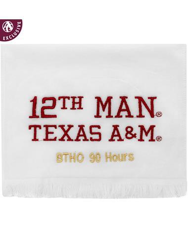 Texas A&M Gold BTHO 90 Hours 12th Man Towel