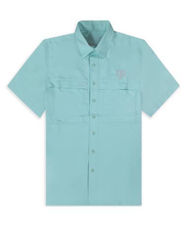 Texas A&M GameGuard Men's Seaglass MicroFiber Button Down Shirt