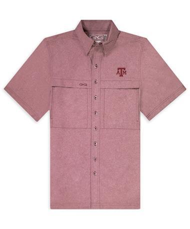 Texas A&M Maroon GameGuard MicroTek Button Down Shirt
