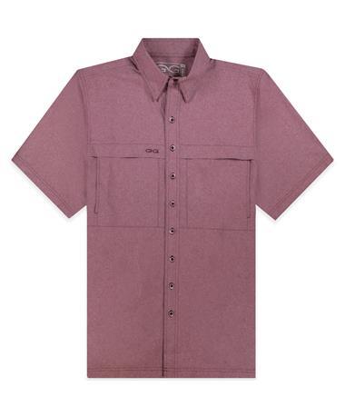 Maroon GameGuard MicroTek Button Down Shirt