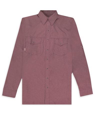 Maroon GameGuard Pearl Snap Shirt