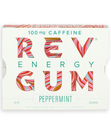 Rev Peppermint Energy Gum
