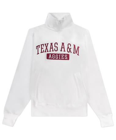 Texas A&M Champion Powerblend Pocketless 1/4 Zip Pull Over