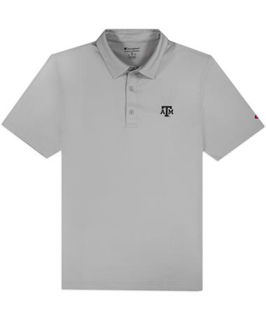 Texas A&M Champion Solid Grey Polo
