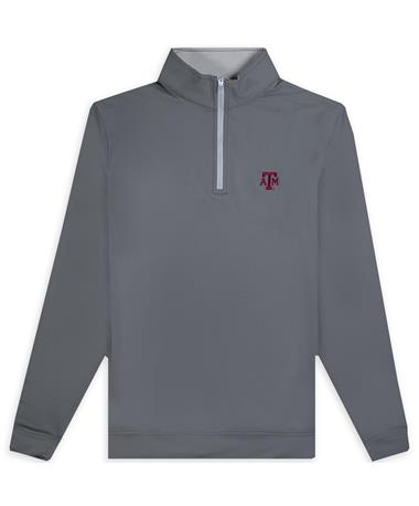 Texas A&M Peter Millar Perth Performance Bloack ATM 1/4 Zip Jacket