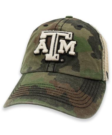 Texas A&M '47 Brand Frontline Camo Burnett Mesh Hat