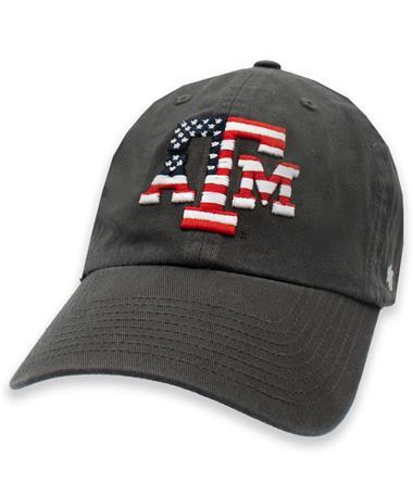 Texas A&M '47 Brand OHT American Flag Block Logo Hat
