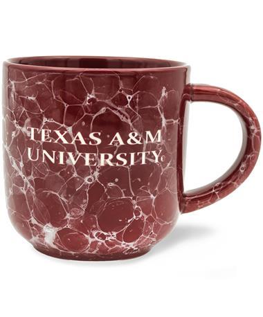 Texas A&M Maroon Marble Mug