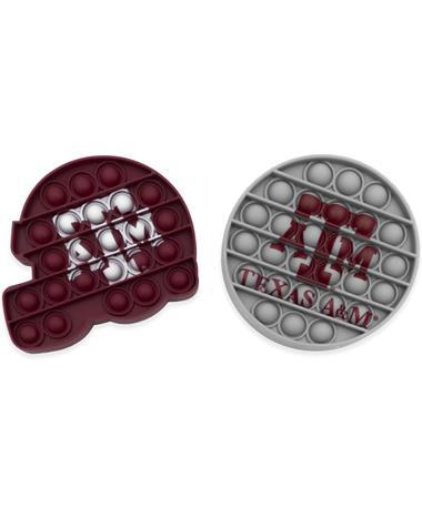 Texas A&M Football Helmet & Circle Push-Itz 2 Pack