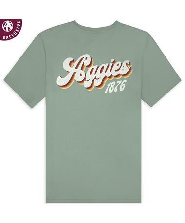 Texas A&M Aggies 1876 Retro Lettering  T-Shirt