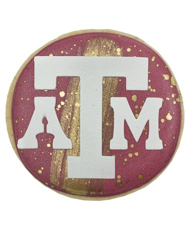 Texas A&M Round Block ATM Cookie
