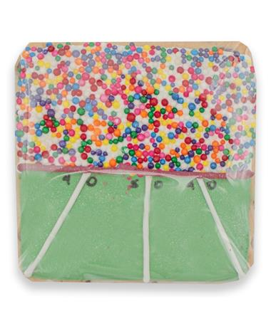 Colorful Football Field Cookie