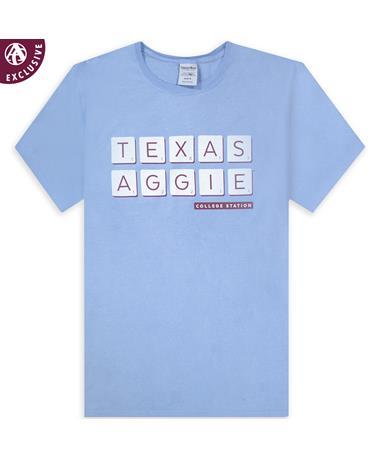 Texas A&M Aggie Scrabble Letters T-Shirt