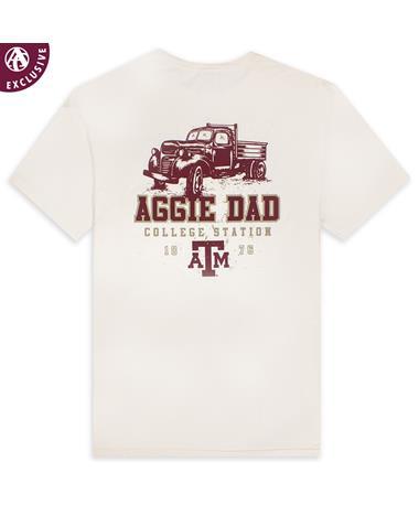 Texas A&M Aggie Dad Maroon Truck T-Shirt