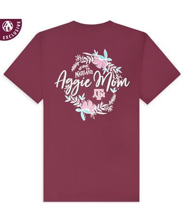 Texas A&M Aggie Mom Pink Floral Shirt