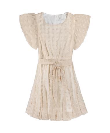 Pin Dot Cream Dress