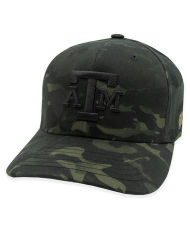 Texas A&M Youth Hooey Black Camo FlexFit Hat