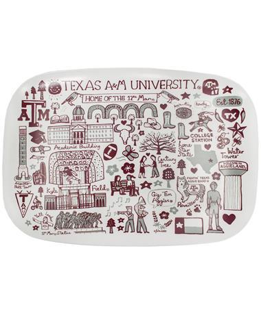 Texas A&M University Julia Gash 14 Platter