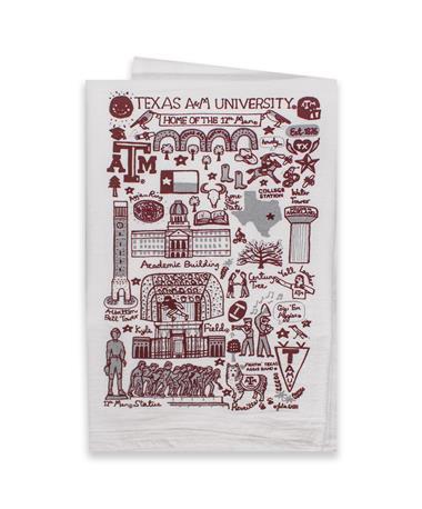 Texas A&M Julia Gash Tea Towel