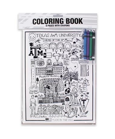 Texas A&M Julia Gash Coloring Book