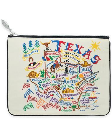 Texas CatStudio Zip Pouch