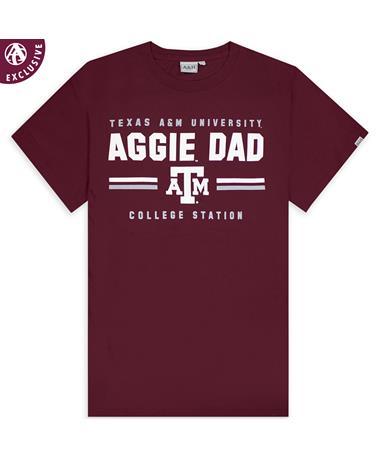 Texas A&M Aggie Dad Double Bar T-Shirt