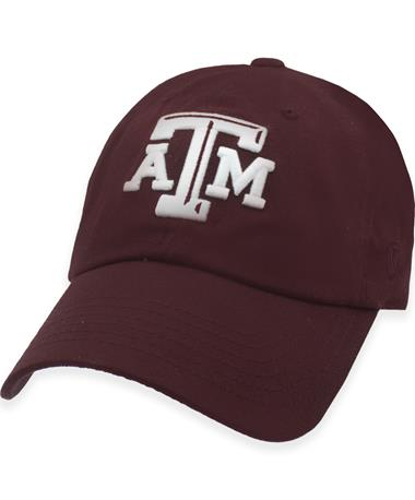 Texas A&M Beveled Logo Unstructured Cap