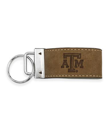 Texas A&M Leather Key Chain
