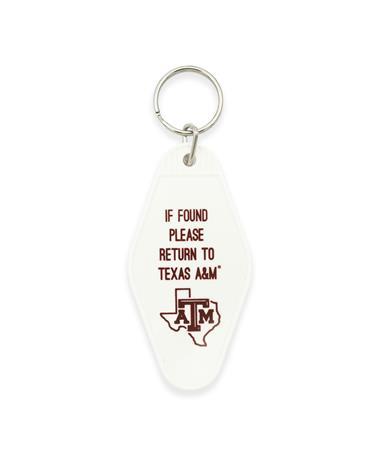 Texas A&M Lone Star Motel Keychain