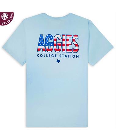 Aggies Flag Comfort Colors T-Shirt
