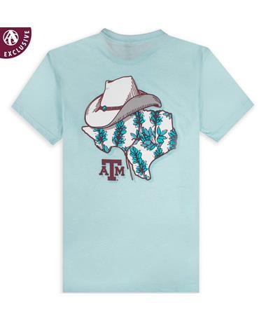 Texas A&M Bluebonnet State & Cowboy Hat T-Shirt