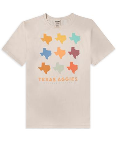 Texas A&M Colorful State Of Texas Comfort Wash T-Shirt