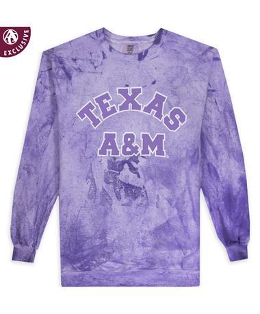 Texas A&M Amethyst Arch Blast Crewneck